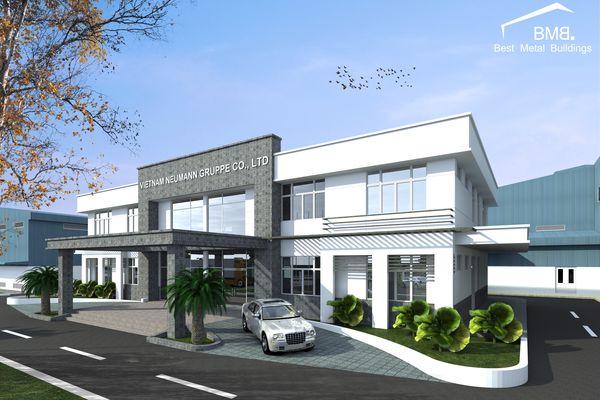 The beautiful standard 2-storey pre-engineered steel building drawings in 2021
