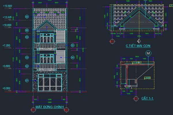 Kết cấu nhà phố 3 tầng - Kiến trúc mang đến sự tiện nghi