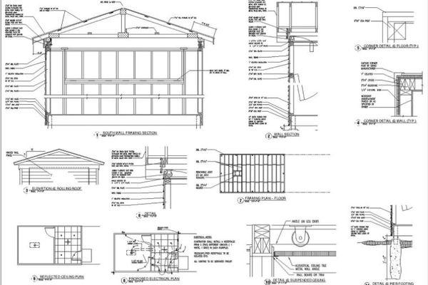 Bản vẽ nhà thép tiền chế dân dụng chi tiết, hoàn chỉnh