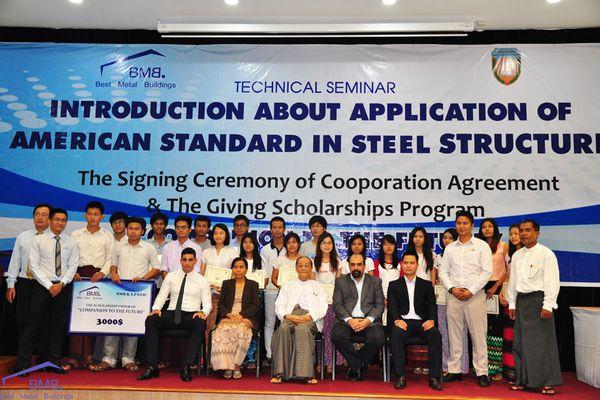 BMB STEEL HELD TECHNICAL SEMINAR AT YANGON TECHNOLOGICAL UNIVERSITY, MYANMAR
