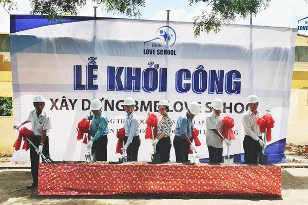 The groundbreaking ceremony of Tan Dien Primary School in Tien Giang Province